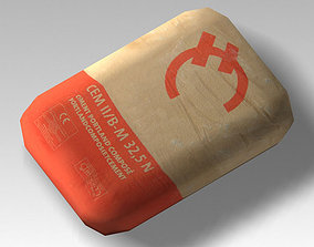 3D model Bag 05 cement bag
