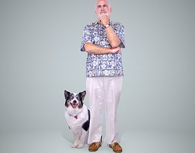 Old Man with His Dog CMan0218-HD2-O01P01-S 3D model