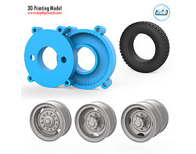 3D print model Truck Tire Mold With 3 Wheels