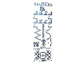 Crop Circle Message v1 010 3D model