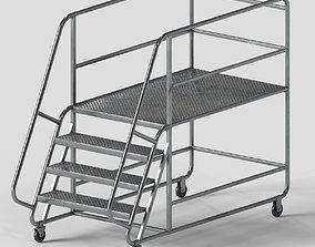 3D asset Industrial stair