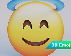 phone Smiling Face With Halo 3D Emoji VR / AR ready
