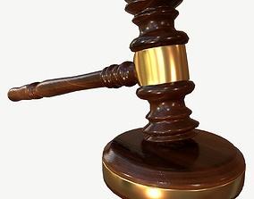 Judges Gavel PBR Unity Unrealengine Vray 3D asset