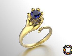 baby hand shaped ring 2 3D printable model