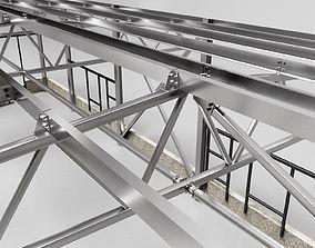 3D Hangar industrial construction