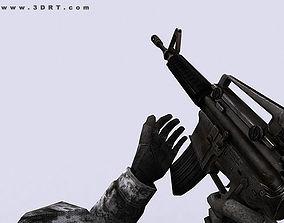 animated 3DRT - Modern Firearms Animated - M16