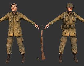 WW2 Soldier 3D asset VR / AR ready