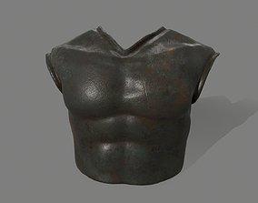 3D model game-ready armor helmet