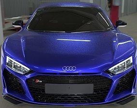 3D High Poly 2021 Audi r8 car exterior with good details