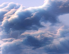 animated game-ready 3D Clouds Generator Animated