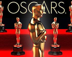 3d model Oscar statuette
