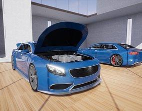 3D asset Generic Small 4 Door Sedan