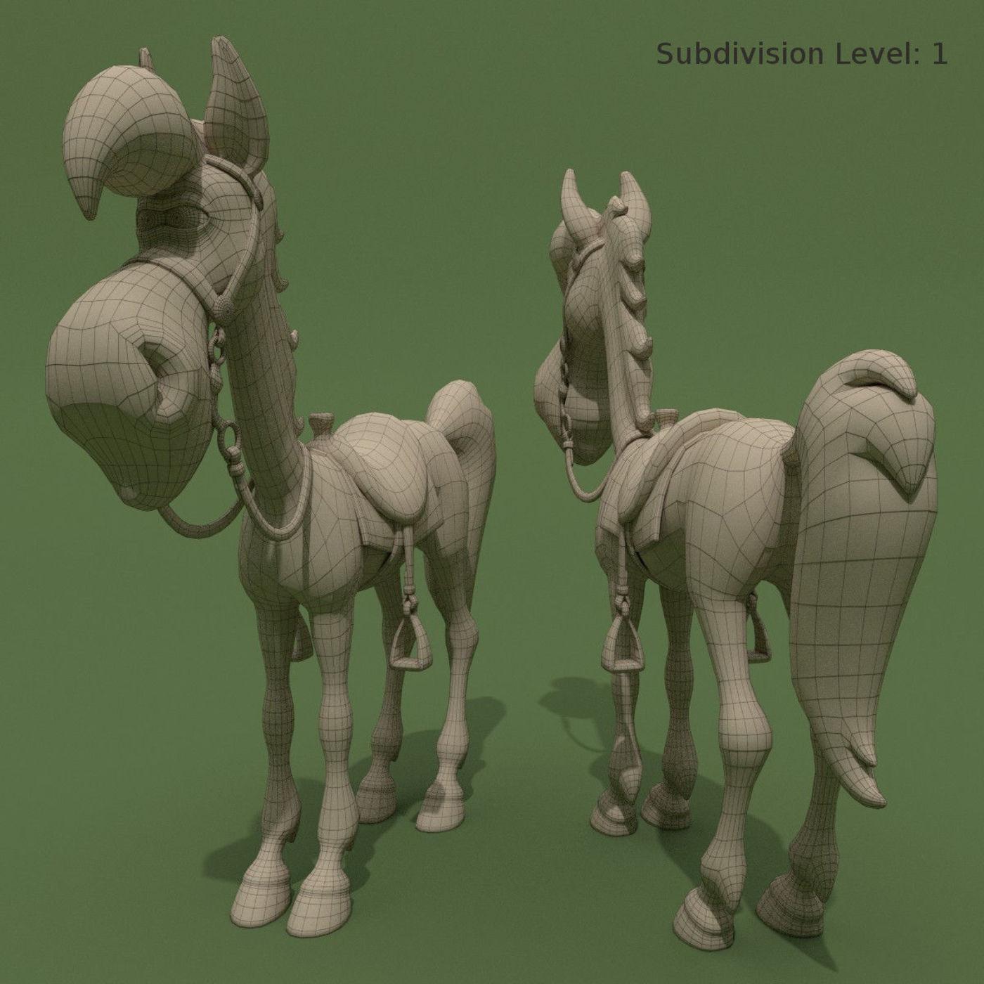 Cartoon Horse of Luke Jolly Jumper