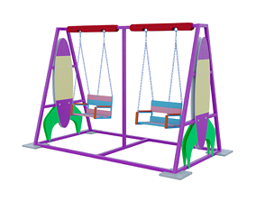 3D model Rocket style swings