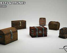 Chests Trunks and Barrels Pack 3D asset