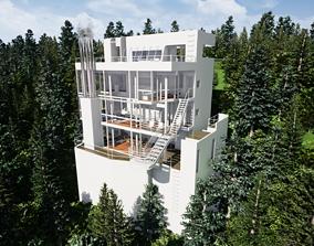 Richard Meier Douglas house an architectural 3D