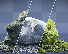 nature Realistic Boulder Collection 01 3D model