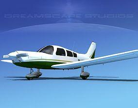 Piper PA-28-235 Cherokee V14 3D model   CGTrader