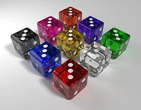 Glass Dice 3D model