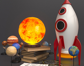 solar system kit for children 3D model