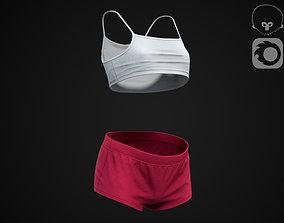 Summer clothes 3D model