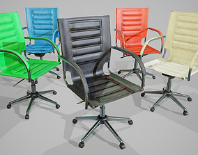 3D model PBR Leather Office Chair