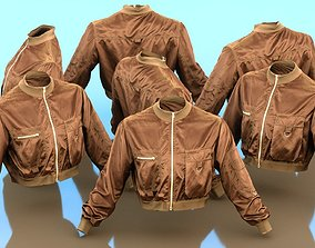 Mini Brown Pocket Jacket 3D asset