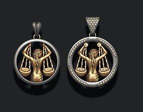 3D print model Horoscope Libra pendants pack