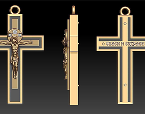 3D printable model PENDANT CROSS with BLACK
