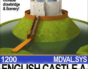 3D model Medieval English Castle A