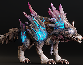 Polluted Wolf character 2in1 3D asset