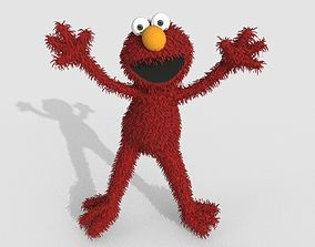 3D model Elmo Cartoon Character LowPoly
