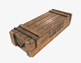 3D asset US WWII wooden crate