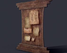Worn Medieval Notice Board 3D model