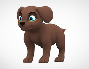 Labrador Puppy 3D asset game-ready