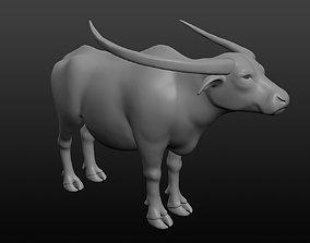 3D model Asian buffalo