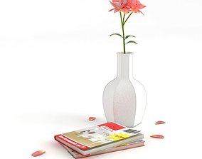 3D Home Decorations Vase Flower Book