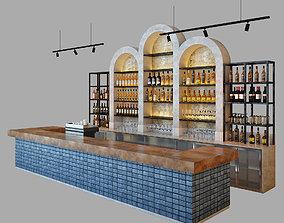 3D model Restaurant bar 7