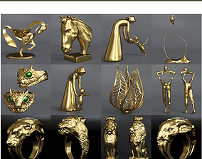 Collection models of decorative figurines of 3D model 2