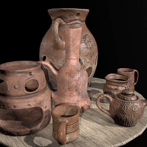 Ancient clay pots
