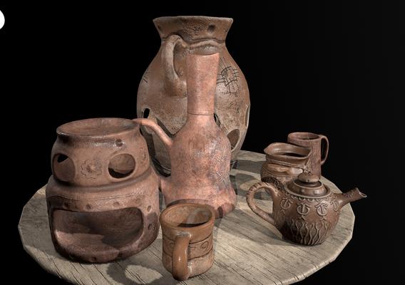Ancient clay pots