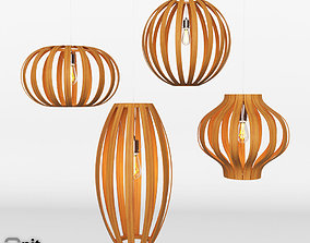 3D model Bentwood Pendant Collection by West Elm