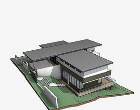 Foreman Residential Villa Revit Model low-poly