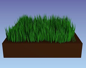 Grass particle system 3D model