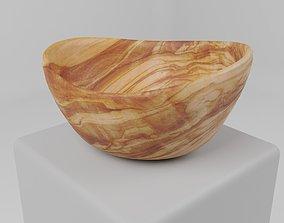 Olive Wood Bowl 3D model