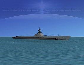Gato Class Submarine SS214 USS Grouper 3D model