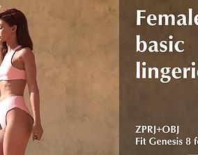 Female basic lingerie 3D model