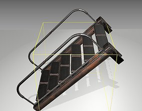 Futuristic Stairs - 18 - Rusty Textures 3D asset