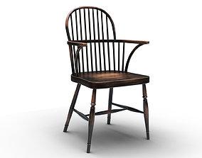 John Lewis - Marple Carver - Back Side - Dining 3D model