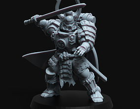 3D printable model Samurai Space Marine warrior